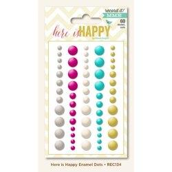 Декоративні емальовані цятки Record It! Here Is Happy, My Mind's Eye, REC134