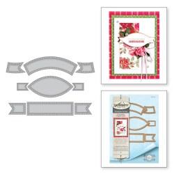 Ножі Vintage Pierced Banners, Spellbinders, S4-820