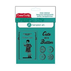 Штампи Cute as a button Clear Stamps, Cosmo Cricket/Hampton Art, SC0476