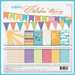 Набір картону Celebra'tions Prints, Spellbinders, 30х30 см, 24 ар, SCP-016