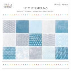 Набір паперу Frosted Winter, 30х30 см, Simply Creative, SCPAD031X16