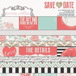 Набір паперу Save The Date, 15х15 см, Teresa Collins, SD1010