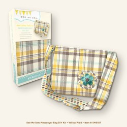 Набір для пошиття сумки Messenger Bag – Yellow Plaid, My Midn's Eye, SMS107