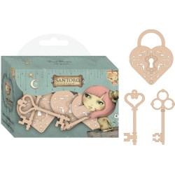 Фігурки дерев'яні Wooden Keys, Mirabelle, Santoro, SNWC001