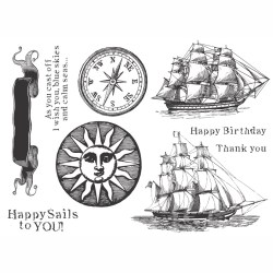 Набір штампів Happy Sails, Fun Stampers Journey, SS-0045