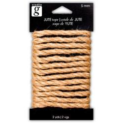 Шнурок декоративний Jute Rope, 5мм, Studio G, VAC0091-2