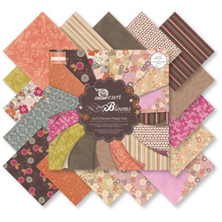 Набір паперу Desert Blooms, 30×30 см, First Edition, FEPAD010