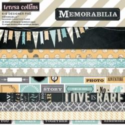 Набір паперу Memorabilia, 15х15 см, Teresa Collins, MB1010