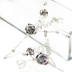 Гілочка троянд, Metal Rose Silver, 1шт, BR17177SL
