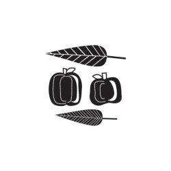 Штампи Autumn Splendor Pumpkin&Leaves, WeR Memory Keepers, 41929-7