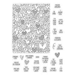 Штампи акрилові All My Heart Peek-a-Boo Parts, Hero Arts, CM419