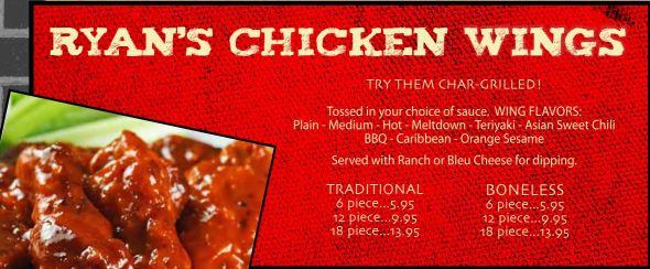 Ryans chicken wings
