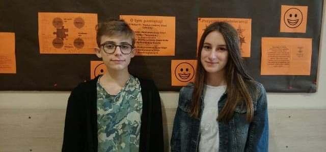 Uczniowie zakwalifikowani do etapu rejonowego Wojewódzkiego Konkursu Języka Polskiego i Chemicznego