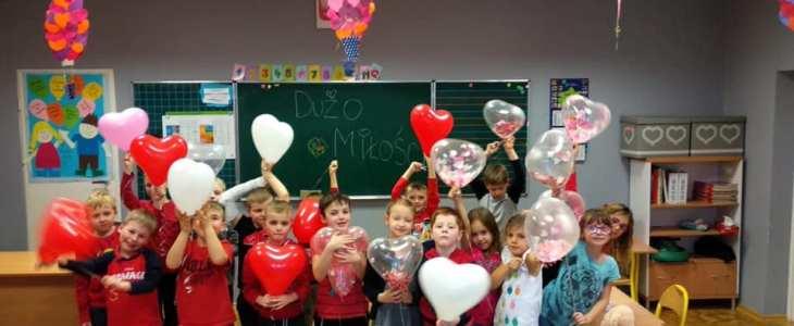 Walentynki w klasie 1 d