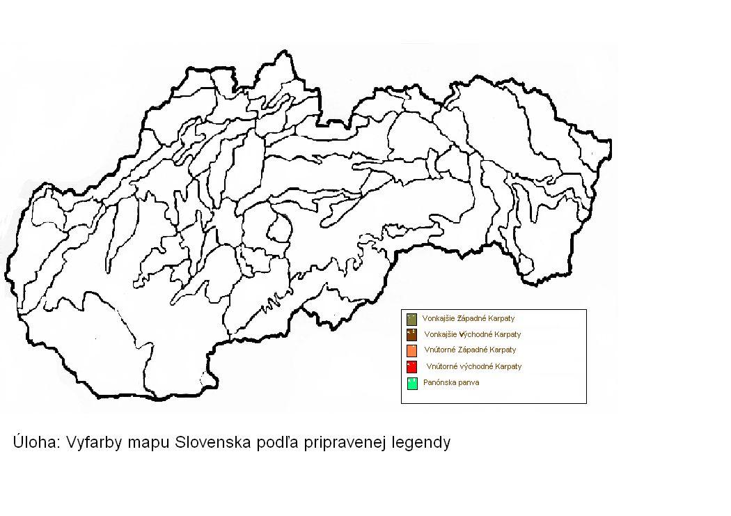 Geografia Vodstvo Slovenska Slepa Mapa