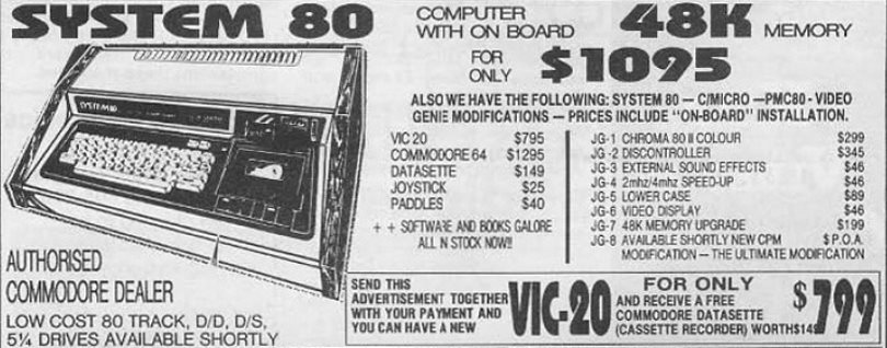 System 80 old school ad