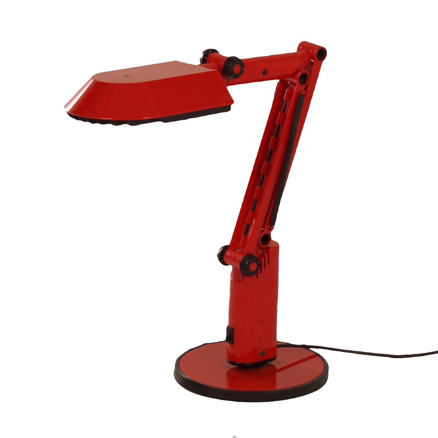 Vintage Red Desk Lamp by Ahlstrom  Ehrich Design for