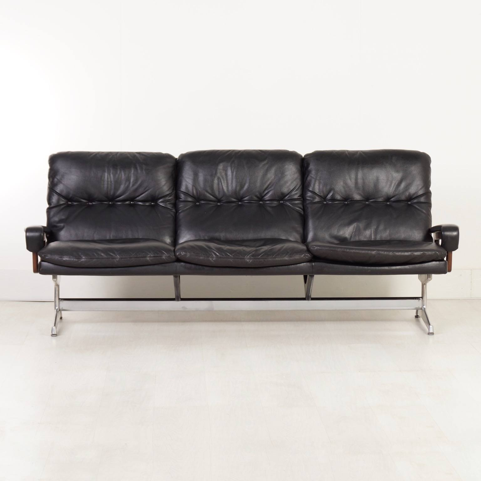 andre sofa l shaped leather malaysia king by vandenbeuck for strassle 1965