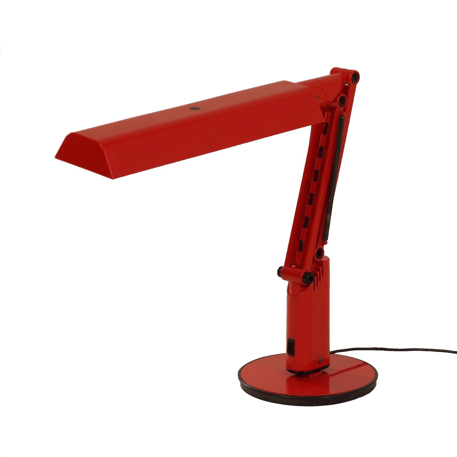 Vintage Red Lucifer Desk Lamp by Fagerhults 1970s