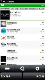 Ovi Store no navegador do 5800