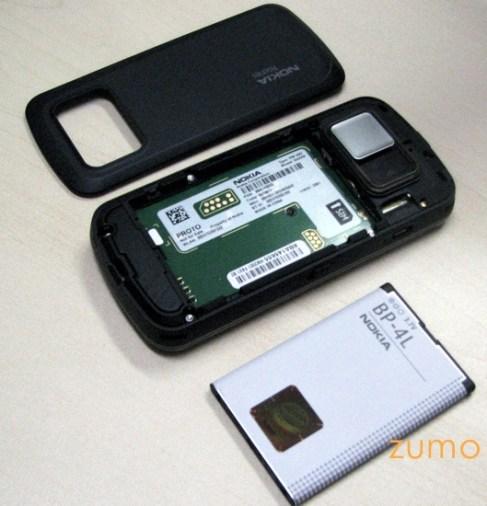 N97: sem a tampa da bateria