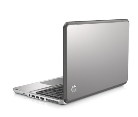 HP Envy13 - left rear facing high angle on white