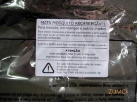Detalhe da embalagem: instruções em português