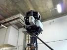 A câmera no topo do carro: 3,1 metros de altura