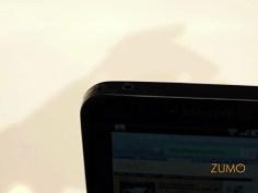 Detalhe da saída de fone 3,5 mm