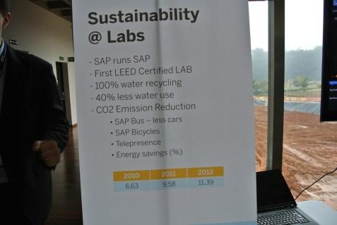 Alguns resultados (em inglês) dos esforços de sustentabilidade