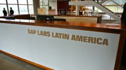 A recepção do SAP Labs Latin America