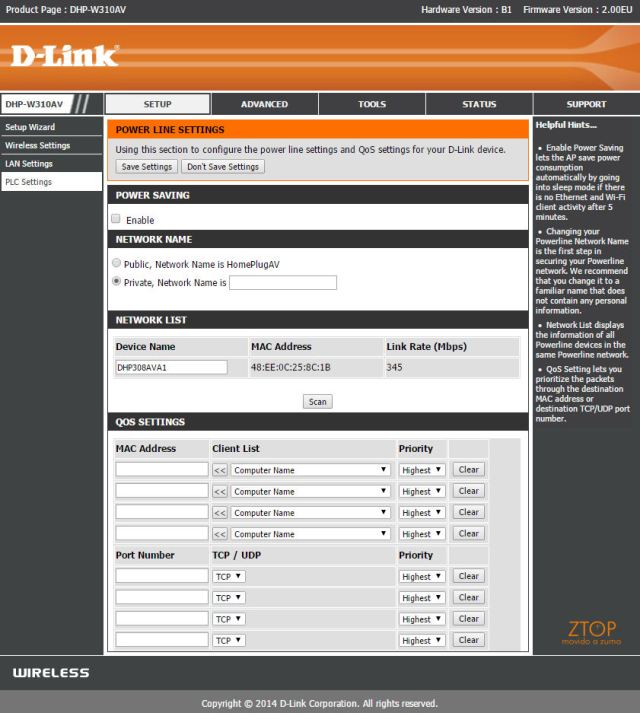 Dlink_Powerline_AV500__menu_setup_PLC