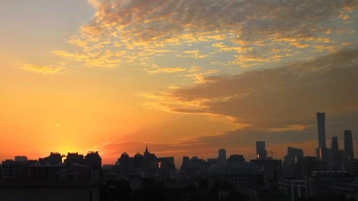 Nascer do Sol em Pequim