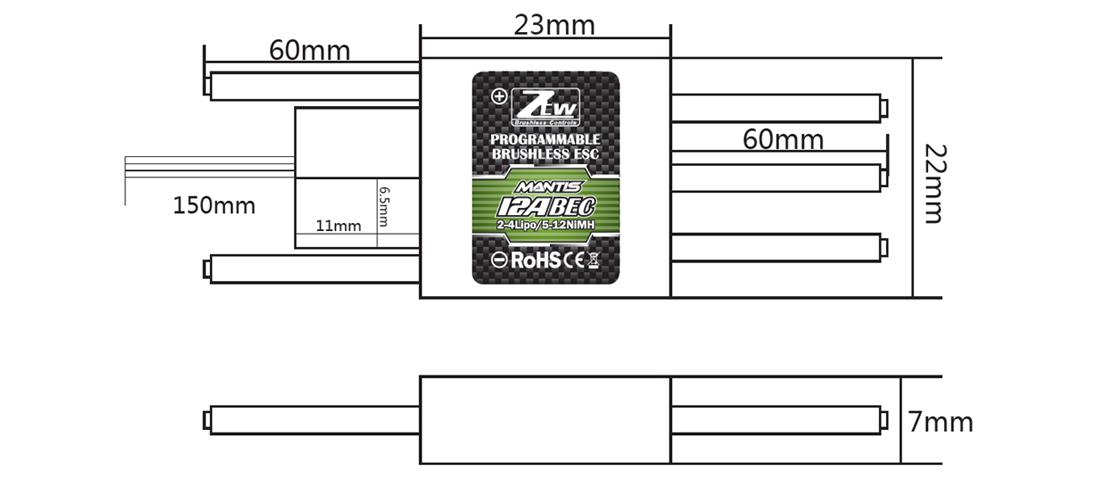 Mantis 12A BEC_RC Brushless ESC,RC ESC,Shenzhen ZTW Model