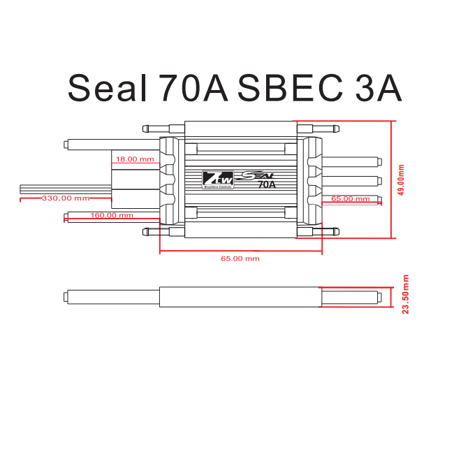 Seal 70A SBEC 3A_RC Brushless ESC,RC ESC,Shenzhen ZTW