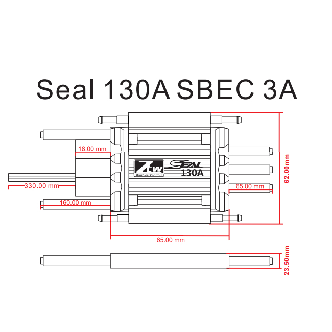 SEAL 130A SBEC 3A_RC Brushless ESC,RC ESC,Shenzhen ZTW