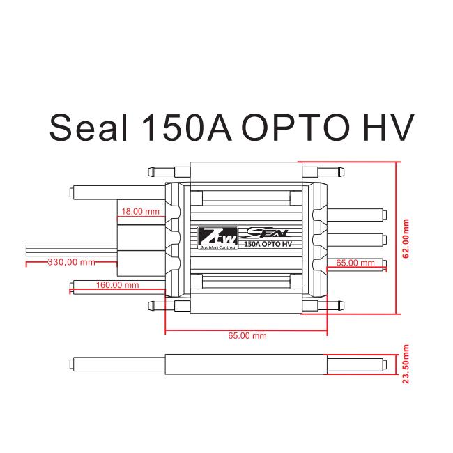 SEAL 150A OPTO HV_RC Brushless ESC,RC ESC,Shenzhen ZTW