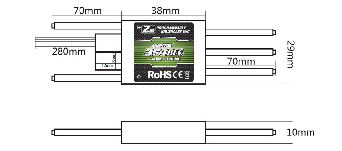 Mantis 35A BEC_RC Brushless ESC,RC ESC,Shenzhen ZTW Model