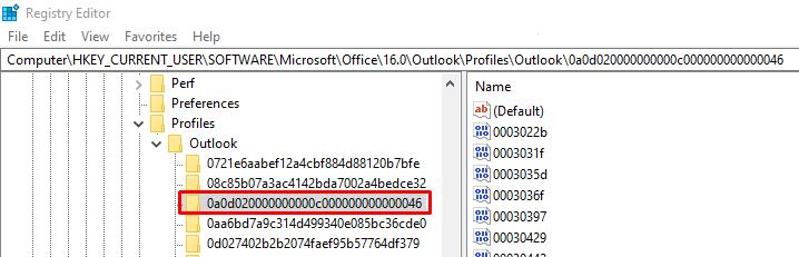 Located registry key 0a0d020000000000c000000000000046