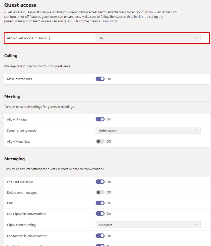 Teams Settings Customization