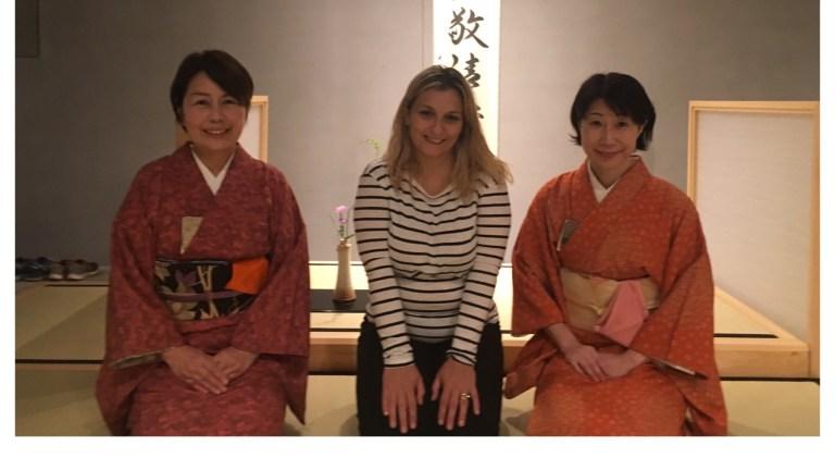 La cerimonia del tè a Osaka, Giappone