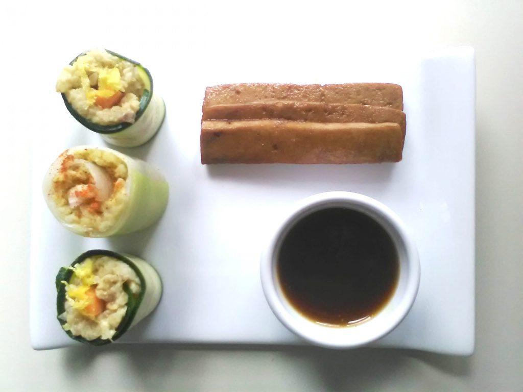 Maki di zucchina, porro e bulgur