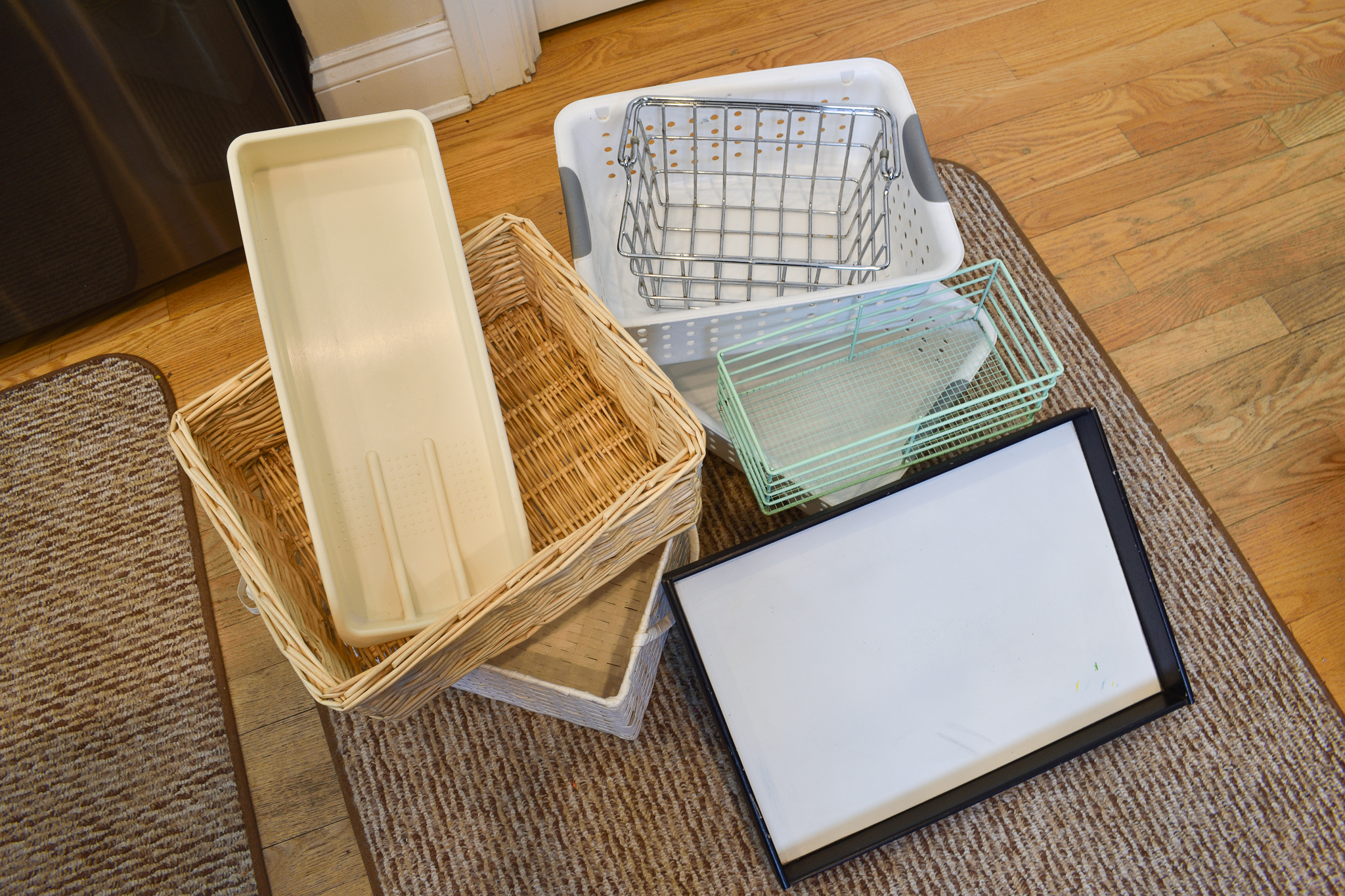 empty storage containers used for how to organize the pantry