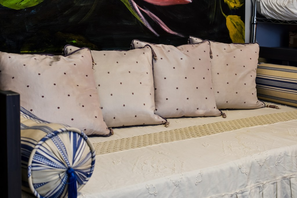 pillows on a daybed