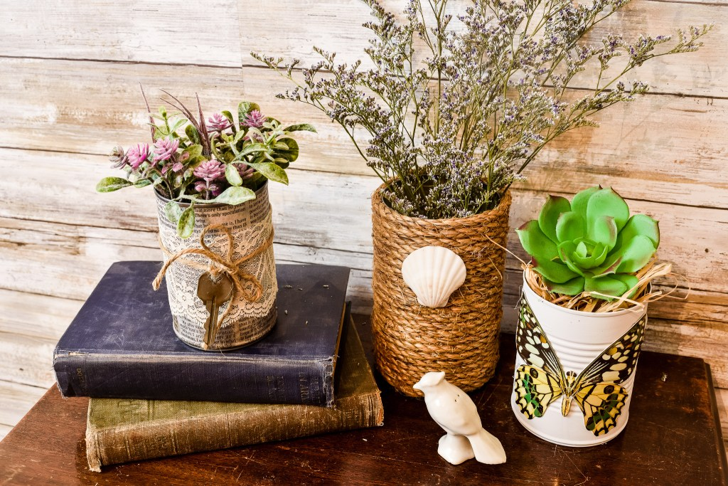 Three easy and inexpensive tin can decor projects