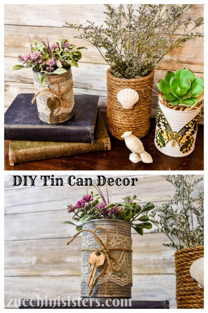 supplies needed for diy tin can decor craft projects
