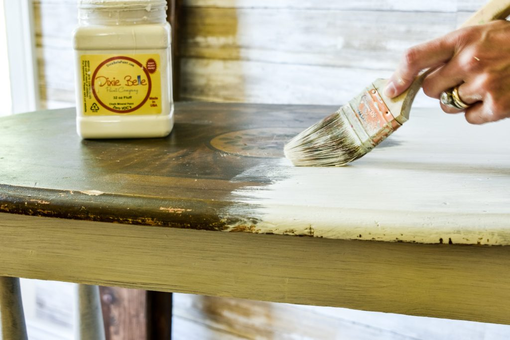 painting with chalk mineral paint