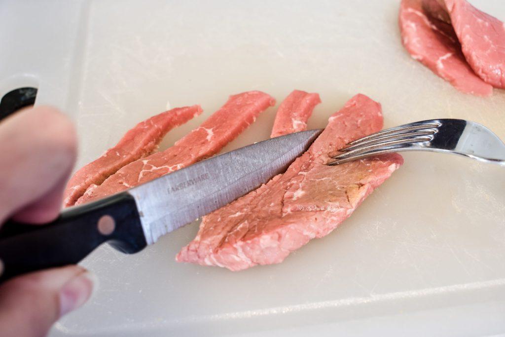 slices strips of steak