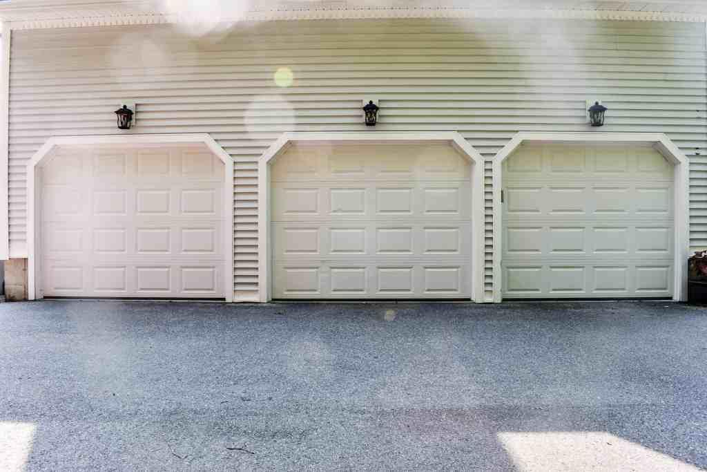 three bay garage doors
