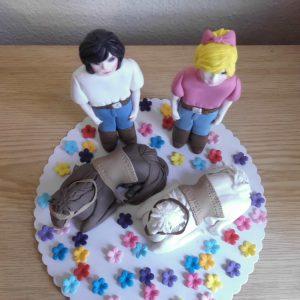 Bibi und Tina Zuckerfiguren Tortendeko  zuckerdekor